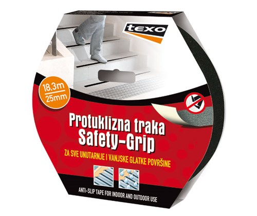 "TEXO Protuklizna traka ""Safety-Grip"" 25 mm x 18,3 m - crna"